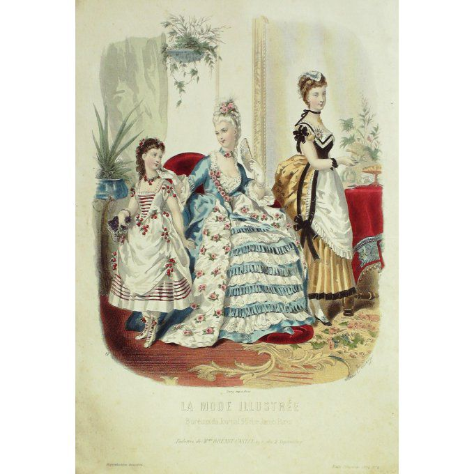 La MODE ILLUSTREE-1874/04-(Maison Mme BREANT CASTEL)