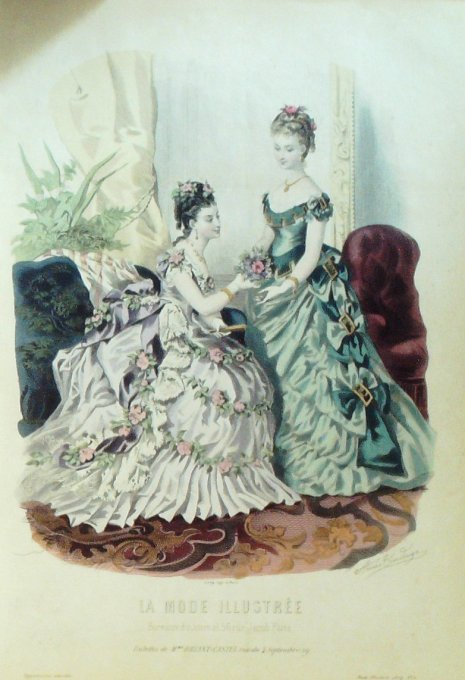 La MODE ILLUSTREE-1874/06-(Maison Mme BREANT CASTEL)
