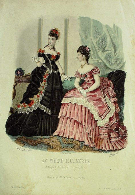 La MODE ILLUSTREE-1874/07-(Maison Mme FLADRY)