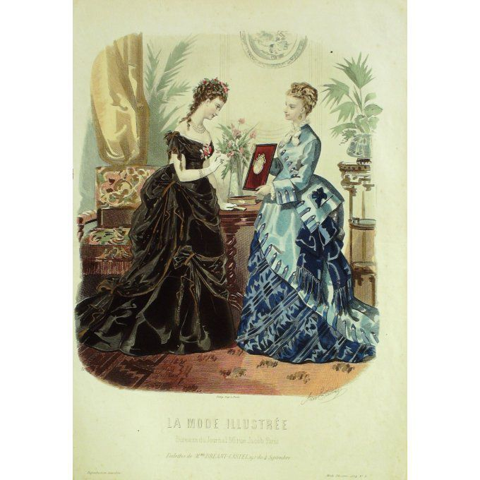 La MODE ILLUSTREE-1874/08-(Maison Mme BREANT CASTEL)