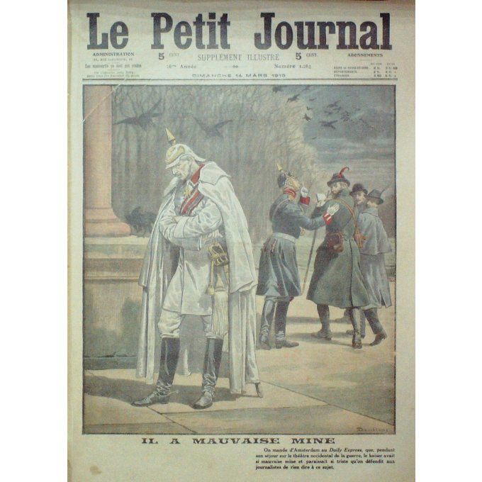 Petit journal-1915-1264-PAYS ABS AMSTERDAM DAILY EXPRESS-LES INCENDAIRES