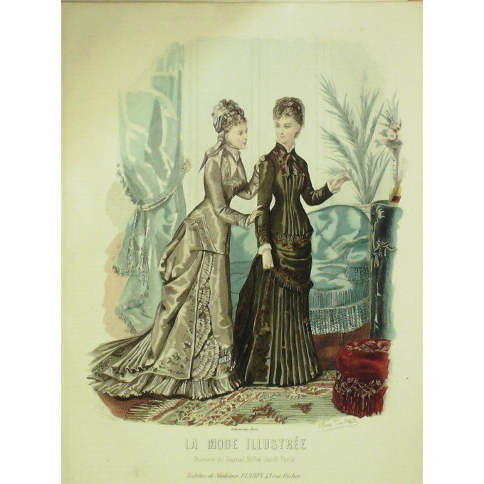 La MODE ILLUSTREE-1878/43-(Maison Mme FLADRY-DELOFFRE)