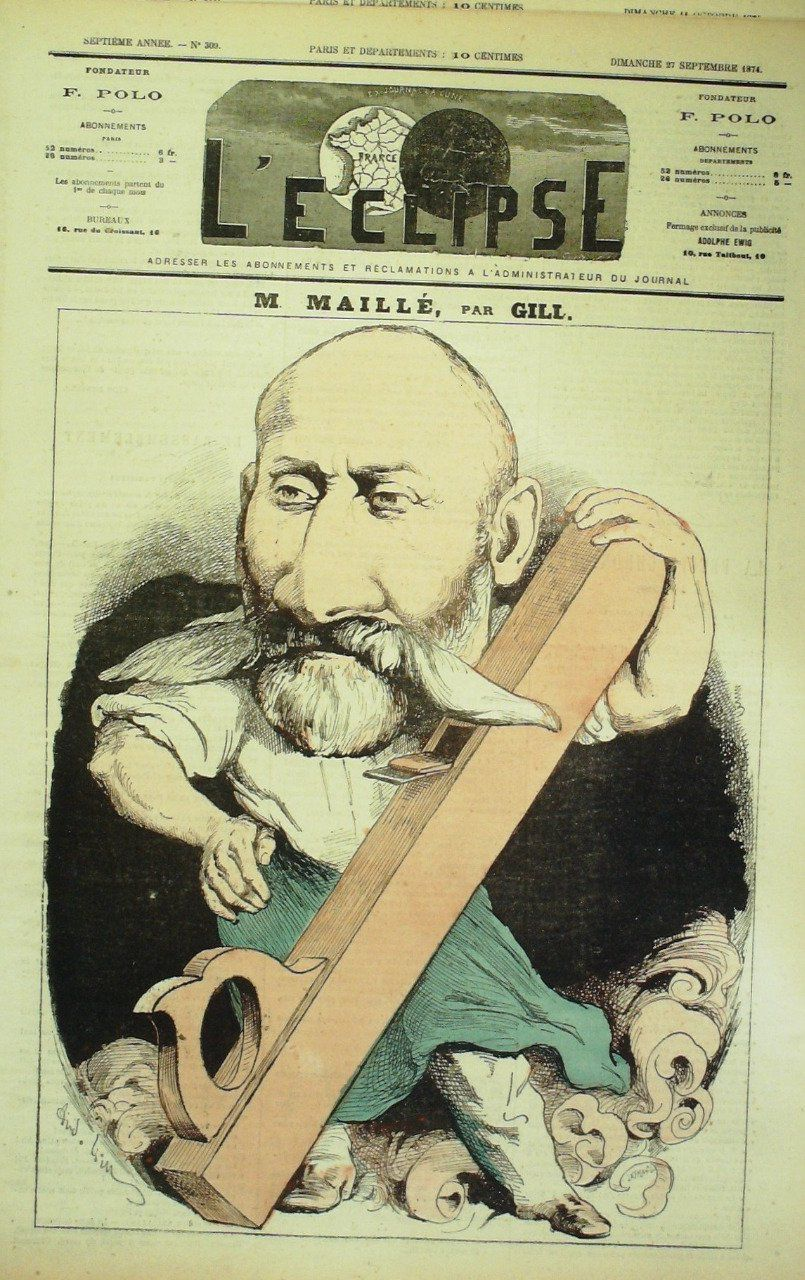 L'ECLIPSE-1874/309-MAILLE-André GILL