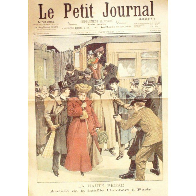Petit journal-1903-634-ARRIVEE FAMILLE HUMBERT-MARIAGE CHEF des APACHES