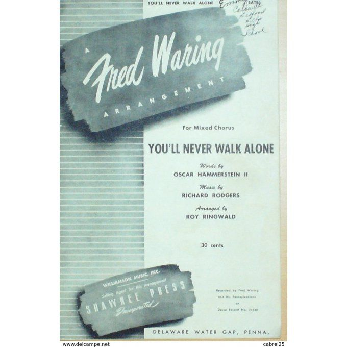 PARTITION-WARING FRED-YOU'LL NEVER WALK ALONE-1955-59