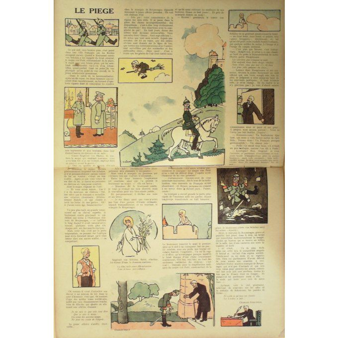 LA BAIONNETTE-1917- 83-IMAGES-MIOCHES-CHAPERON ROUGE-PIRATES-PIEGE-CAPTURE
