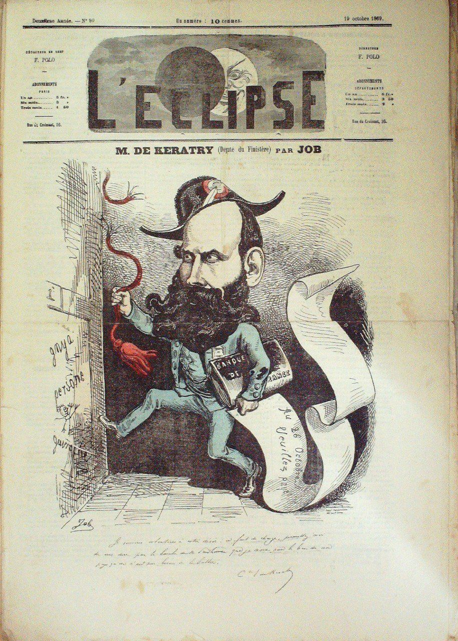 L'ECLIPSE-1869/90-M DE KARATRY (FINISTERE)-JOB