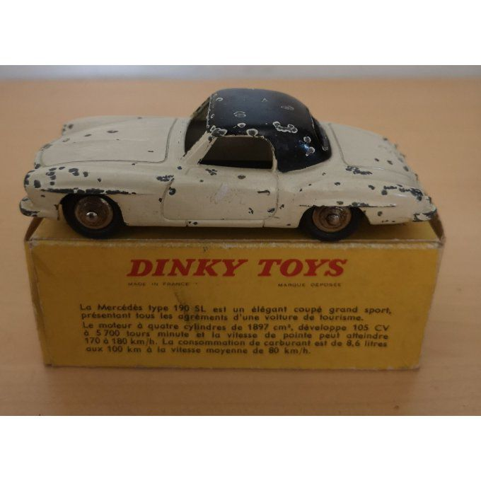 Dinky toys (ref 24H)-MERCEDES 190 SL (Made in France Meccano et boîte d'origine)